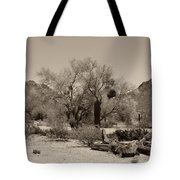 Old Tucson Landscape  Tote Bag
