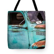 Old Turquoise Truck Tote Bag