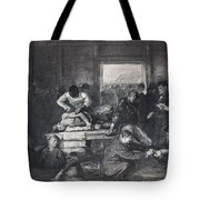 Old Varsity Men Break In And Give Advice, First State By George Bellows  Tote Bag