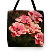 Old Victorian Fuchsia Pink Rose Tote Bag
