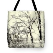 Old Victorian In Winter Tote Bag
