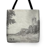Old View Of Durham Cathedral Tote Bag