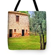Old Villa And Olive Trees Tote Bag