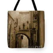 Old Village Street Tote Bag