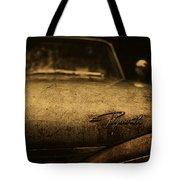 Old Vintage Plymouth Car Hood Tote Bag