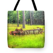 Old Wagon In Field Tote Bag