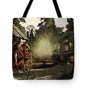 Old Watermill In The Forest Tote Bag