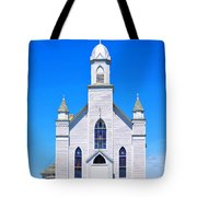 Old Weathered Church On Hill Top Tote Bag