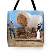 Old West Dogs Tote Bag