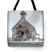 Old West Church Tote Bag