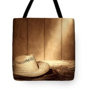 Old West Farmer Hat Tote Bag