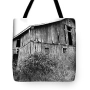 Old West Virginia Barn Black And White Tote Bag