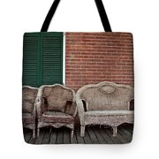 Old West Wicker Tote Bag by Patricia Strand