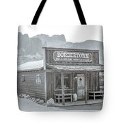 Old West With Superstition Mountains Tote Bag