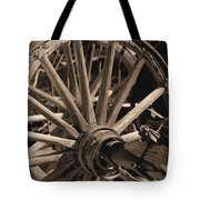 Old Western Wagon # 5 Tote Bag