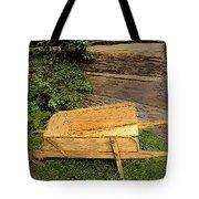 Old Wheelbarrow Brushed Tote Bag