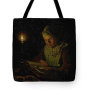 Old Woman Reading, Adriaan Meulemans, 1800 - 1833 Tote Bag