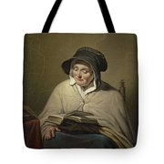 Old Woman Reading, Cornelis Kruseman, 1820 - 1833 Tote Bag