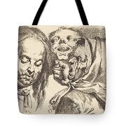Old Woman Scolding A Man Tote Bag