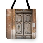 Old Wood Door - France Tote Bag