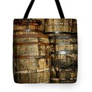 Old Wood Whiskey Barrels Tote Bag