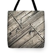 Old Wooden Boards Nailed Tote Bag
