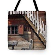 Old Wooden Cabin Log Detail Tote Bag
