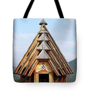 Old Wooden Church On Mountain Tote Bag