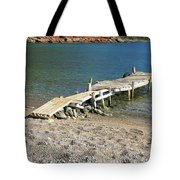 Old Wooden Dock Tote Bag