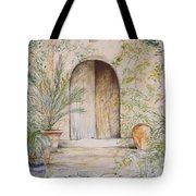 Old Wooden Door Tote Bag