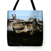 Old Wooden Fishing Boat Tote Bag