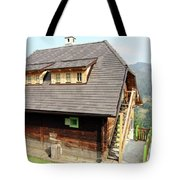 Old Wooden House On Mountain Tote Bag