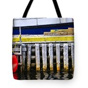 Old Wooden Pier In Newfoundland Tote Bag