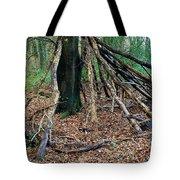 Old Woodland Hide. Tote Bag