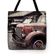 Old Work Trucks Tote Bag