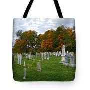 Old Yard Cemetery Stowe Vermont Tote Bag