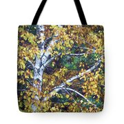 Old Yellow Birch Tote Bag