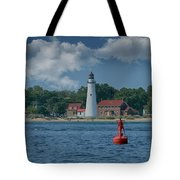 Oldest Lighthouse In Michigan Tote Bag