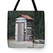 Oldtime Outhouse - Digital Art Tote Bag