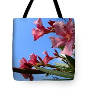 Oleander Flowers Wilting In The Brutal Florida Sun  Tote Bag