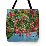 Oleander On Melbourne Harbor In Florida Tote Bag