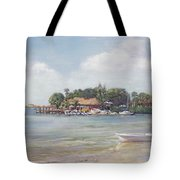 O' Leary's Tiki Bar And Grill On Sarasota Bayfront Tote Bag