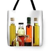 Olive Oil,salad Dressing And Vinegar Tote Bag