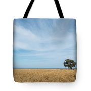Olive Tree On The Wheat Field  Tote Bag