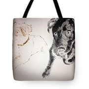 Oliver And Fury Commission Tote Bag