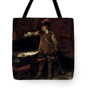 Oliver Cromwell Opening The Coffin Of Charles I  Tote Bag
