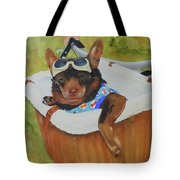 Oliver Rides The Greenway Tote Bag