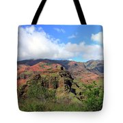 Olokele Canyon From Robinson Ranch Tote Bag