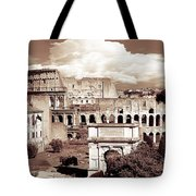 Colosseum From Roman Forums  Tote Bag
