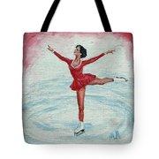 Olympic Figure Skater Tote Bag